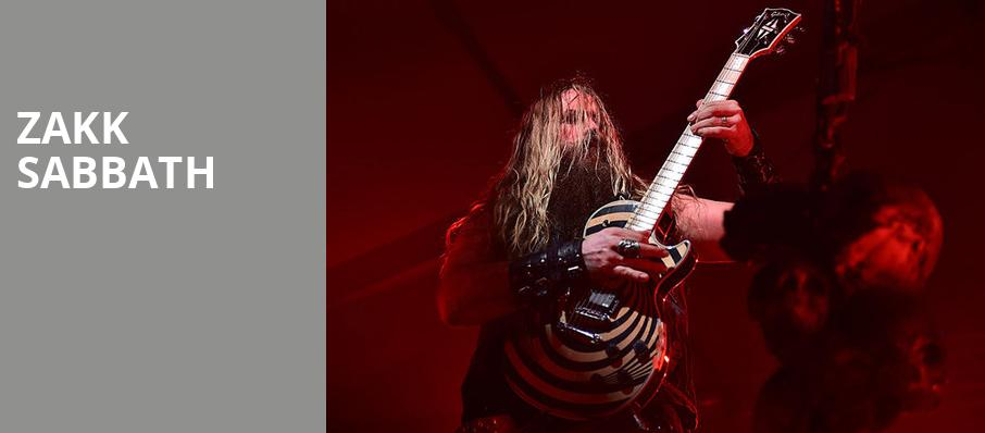 Zakk Sabbath, Arvest Bank Theatre at The Midland, Kansas City
