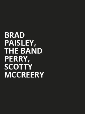 Brad Paisley, The Band Perry, Scotty McCreery Poster