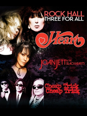 Heart, Joan Jett and The Blackhearts & Cheap Trick Poster